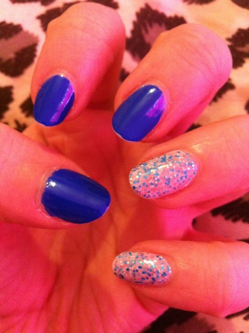 Nails inc. 'Baker Street' with 'Sweets Way' Sprinkles accents … xoxo