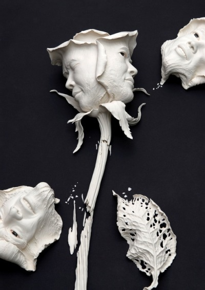 "misscannabliss:  teeth-magnet:  pepperloves1:  Johnson Cheung-shing TSANG is a Hong Kong sculptor specializing in ceramics, stainless steel sculpture and public art work. Tsang's works mostly employ realist sculptural techniques accompanied by surrealist imagination, integrating the two elements, ""human beings"" and ""objects"", into creative themes. Since 1993, Tsang's works have been exhibited in Hong Kong, Taiwan, Korea, Spain and Switzerland and collected by local and overseas museums and collectors."
