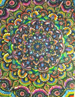 art trippy psychedelic mandala