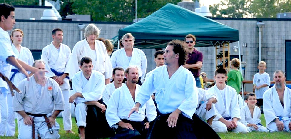 Rick Testa Sensei demonstrating at the Aikido Association of America's East Coast Instructors Seminar in New York.