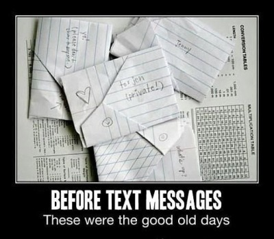 Before text messages.