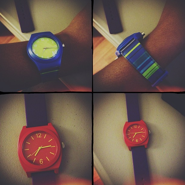 I acquired two new time pieces over the holiday season #ilovewatches #kitcam
