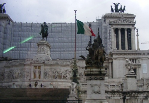 "The Altare della Patria also known as the Monumento Nazionale a Vittorio Emanuele II or ""Il Vittoriano"" is a monument built in honour of Victor Emmanuel, the first king of a unified Italy, located in Rome, Italy. It is commonly referred to as the wedding cake because it is very white."