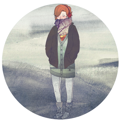 """this winter (an illustration)"" Illustration by cacheth Tiny Story by phenomenaaa == ""This Winter"" i've been watching the snowthis winteras it rests upon the leavesof autumn, those which havediedatop the grass of the humid summer,that grew from the soilof last winter.again andagainand againby heart.i wish i had the powerto be so perfectlylovelyand devastatingall at once. == Contribute your Tiny Stories HERE!"