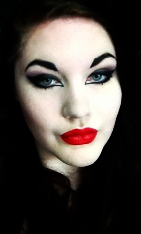 evillittlething:  liked my makeup today :>