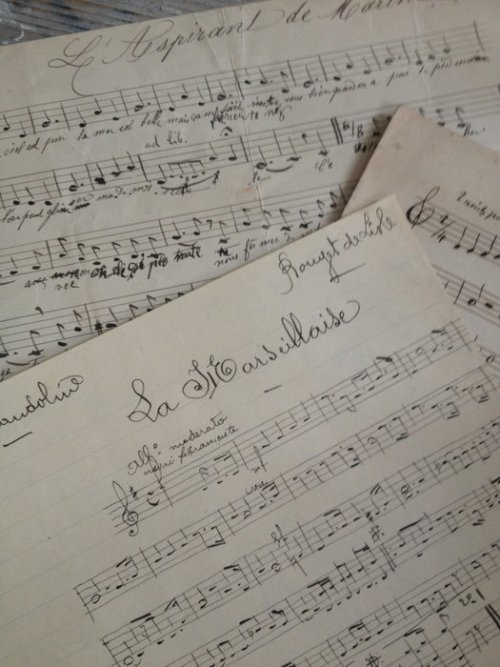 fleaingfrance:  Music Composition Set of 3 FleaingFrance Brocante Society