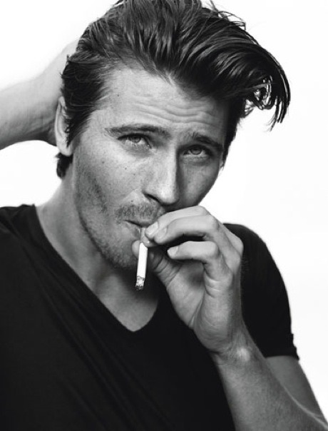 We're obsessed with Garrett Hedlund's day-after pompadour. Get the look here.