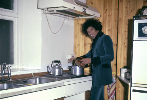 Jimi Hendrix at home. 1967.