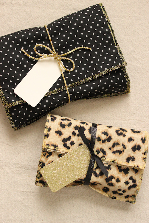 DIY Fabric Gift Envelopes | Design*Sponge  No one said you had to wrap your gifts with paper. Use fabric for a more sustainable alternative!