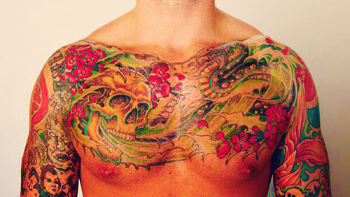 CM Punk's Chest Tattoo