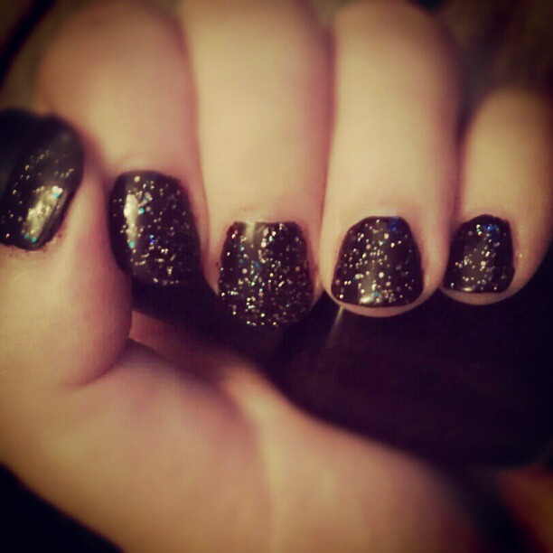 Midnight manicure.