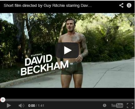Want to see David Beckham run in only his underwear??