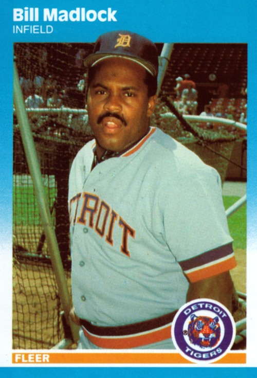 Random Baseball Card #2374: Bill Madlock, infielder, Detroit Tigers, 1987, Fleer.