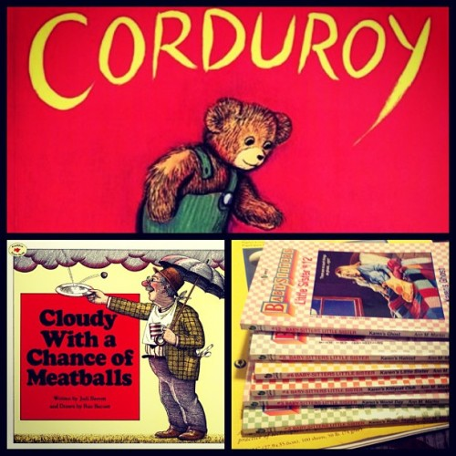 #bsmphotoaday day 7: Fav. childhood book Corduroy Cloudy With A Chance Of Meatballs (This used to be the 1st book I ran to in pre-school) & I have the entire collection of The Babysitters Club Little Sister books