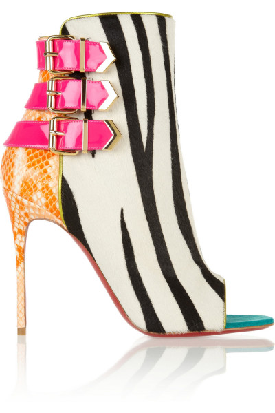 Christian Louboutin Most of his crazy mixed media shoes are awful, but once in a while a pair will come along which make all the atrocious pairs seem worth it…