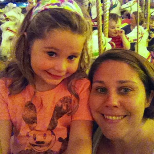 My girls on the Carousel ride (yesterday @Disney)