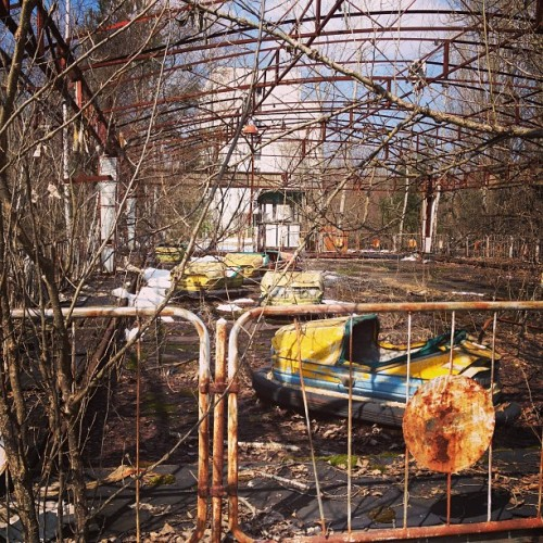 instagram:   Chernobyl, 27 Years Later  For more photos from Chernobyl, check out the Chernobyl and Pripyat (Припять) location pages, or search for photos tagged with #Pripyat, #Припять, #Chernobyl and #Чернобыль. On this day 27 years ago, an explosion at the Chernobyl Nuclear Power Plant near the city of Pripyat, Ukraine, killed dozens of people and released a plume of radioactive fallout that would eventually require the relocation of more than 350,000 people. The event ranks as the worst nuclear disaster in history. The area immediately surrounding Chernobyl is still too radioactive for habitation and will remain so for another 20,000 years. Until recently, an exclusion zone of 19 miles (30 km) extended in all directions from the power plant, which is now entombed in concrete. In 2011, however, Ukraine opened up this area to tourists, giving the world a peek into a town abandoned and untouched for nearly three decades.