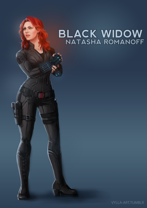 vylla-art:  Natasha Romanoff: The Black Widow - 9/46 My favorite Avenger. Inside and outside of MCU.