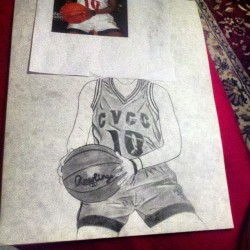 Still working on dis pic of Anika Jones( @_iheartbball )