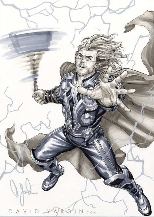 davidyardin:  Avengers Movie Thor. All art by me.