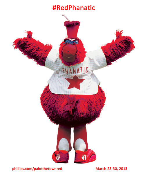 It's the Red Phanatic's big return! Join the fun at Phillies Paint the Town Red Week, March 23-30, featuring daily events to celebrate the upcoming baseball season. Details»www.phillies.com/paintthetownred