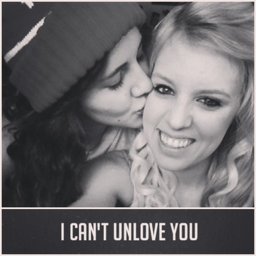 adorablelesbiancouples:  we arent together anymore but the picture says it all.. i'll always love you tess.