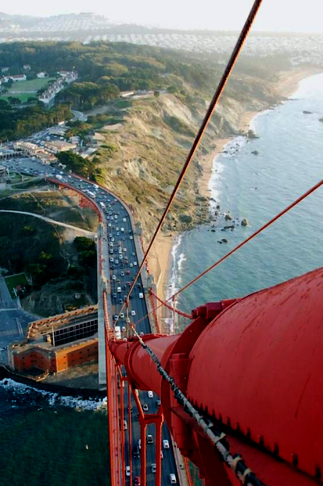 fuckanimals:  View from the top of the Golden Gate Bridge
