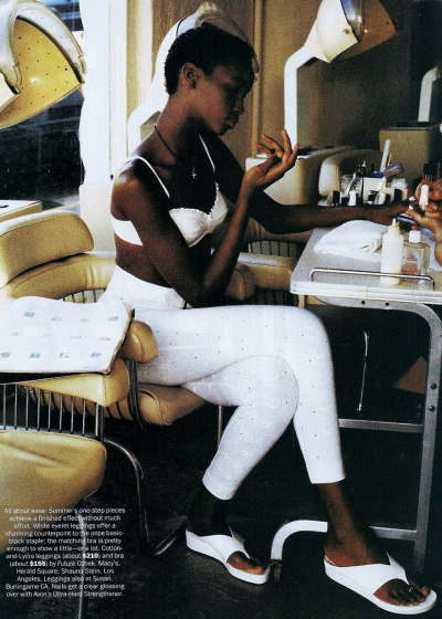 """A Light Touch"" Beverly Peele by Pamela Hanson for US Vogue , April 1993   FANCY…"