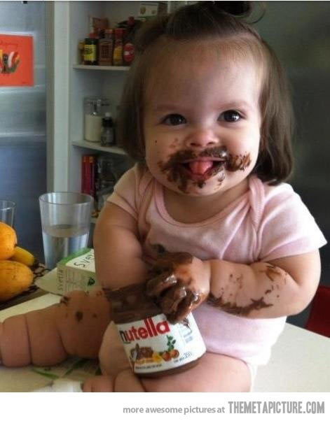 srsfunny:  That's one way to eat Nutella…http://srsfunny.tumblr.com/