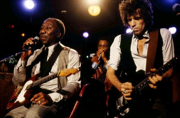 "Keith Richards - ""It's one thing to play a #MuddyWaters song. It's another thing to play with hi"