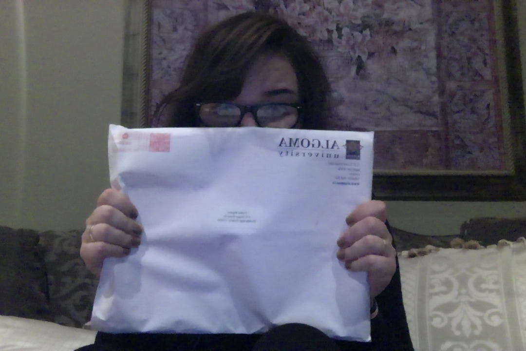 Opening up university letters, always exciting.
