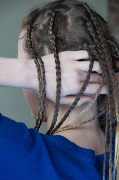 ninaperlman:  Pushing Back Braids, April 2013