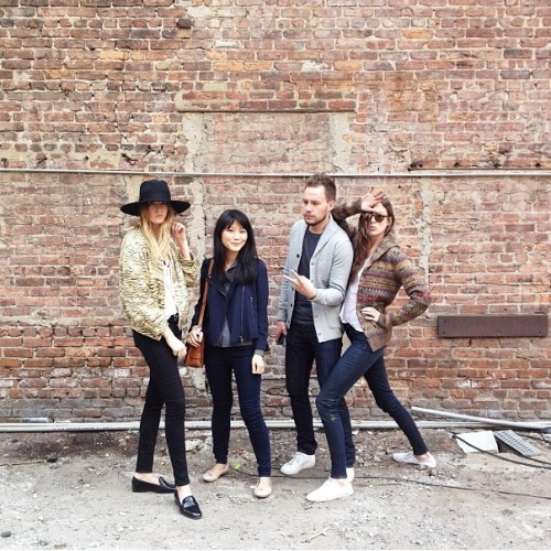 clubmonaco-pressroom:  Camille, Alice, Ryan and Jenny.