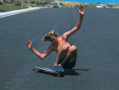 "the-jaguarshark:  Jay Adams circa 1970 ~ Early 70s""In contests, Jay was simply the most exciting skater to watch. He never skated the same run the same way twice. His routines were wickedly random yet exceedingly tight and beautiful to watch; he even invented tricks during his runs. I've never seen any skater destroy convention and expectation better. Watching him skate was something new every second - he was 'skate and destroy' personified."" - Stacy Peralta"