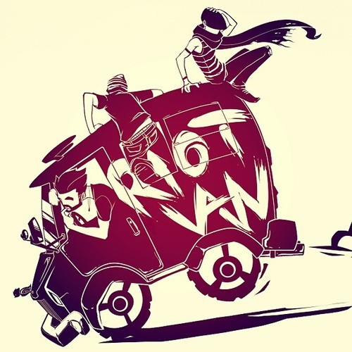eatsleepdraw:  Tshirt design based off the Arctic monkeys song - Riot Van. More illustrations on my Facebook