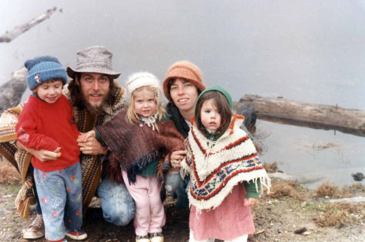 My parents and sister (center kid) in about 1981