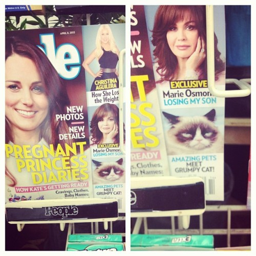Grumpy cat is on the cover of people magazine #humph #grumpycat #people
