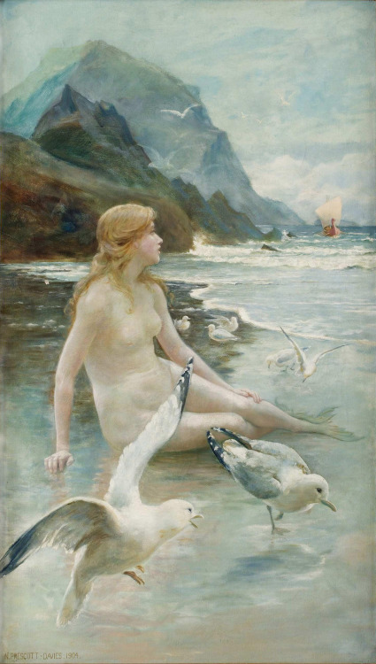 """ Sea Nymph ""  …  [1904]   Artist:  Norman Prescott-Davies"