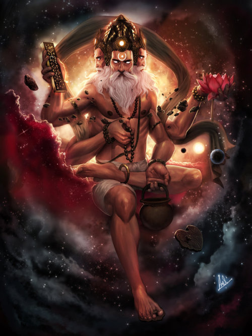 artmonia:  Brahma-God of Creation by Anirudh Sainath.   Ahh, Brahma