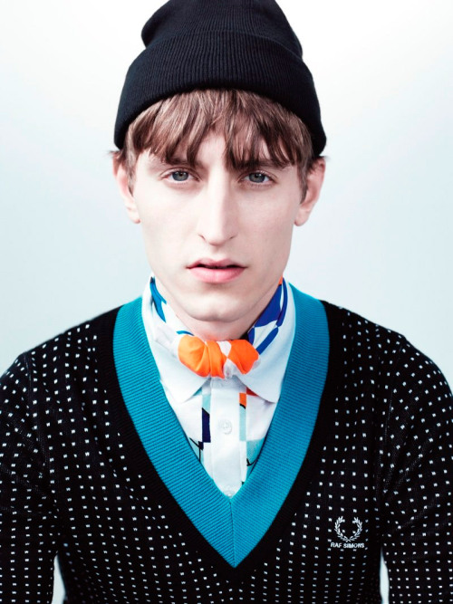 Fred Perry by Raf SimonsChrisPhotographed by Willy VanderperreStyled by Olivier Rizzo