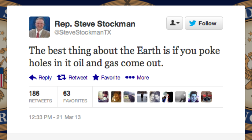 If you're offended, Rep. Stockman suggests you tweet at his flak.