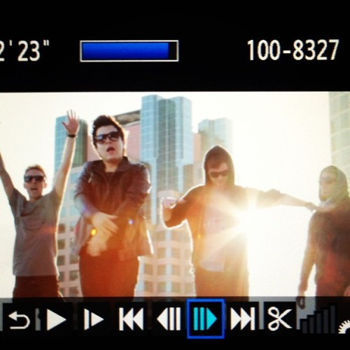 popfictionmusic:  Remix Video Shoot Today