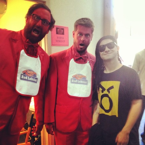 jashnetwork:  Look out for these guys @timheidecker @ericwareheim @skrillex #comedyweek