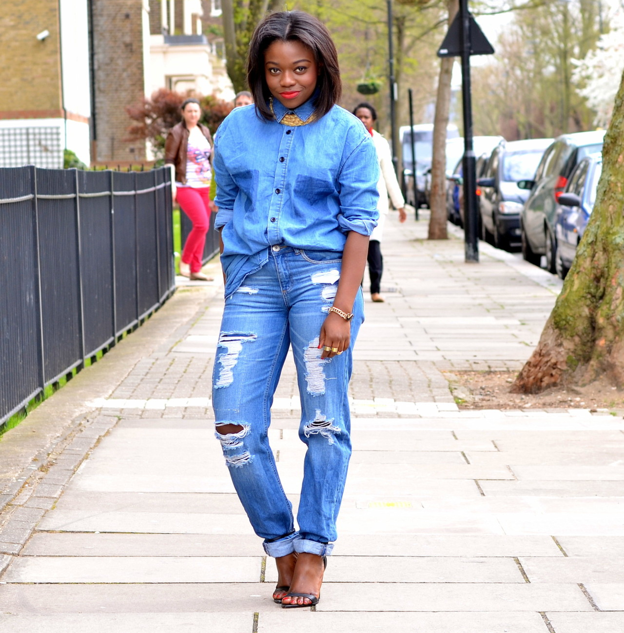 blackfashion:  Double Denim Is So Mainstream