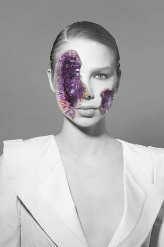 f-l-e-u-r-d-e-l-y-s:    Amethyst by Koen Hauser    Amethyst is a site-specific installation with images and sound. Slowly dissolving slides reminisce the process of decay. The automated slideshow is projected in a dimly lit but richly decorated room, the visual style of the imagery referring to fashion photography.Koen Hauser created this work on the occasion of Salon/1, by whom he was invited to show his work in Museum van Loon during the Amsterdam Fashion Week 2010.website Koen Hauser