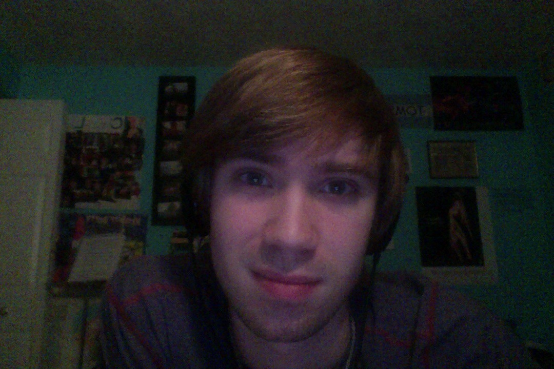 "This is my ""listen to music and try not to seem stressed"" face."