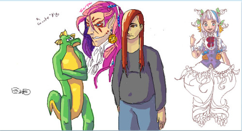 Doodle Party 5 All colors by me, all lines done by internet randoms <3