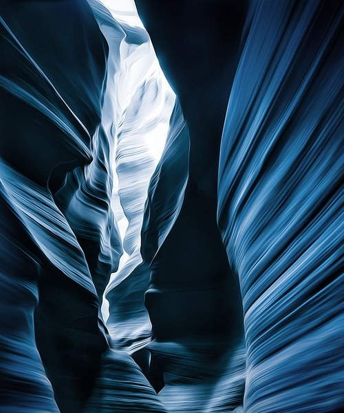 vurtual:  Washed Away (by Gregory Boratyn)Taken in Lower Antelope Canyon, Arizona