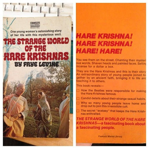 Another old book find. This one was designed to scare your parents! #harekrishna #bhaktiarchive