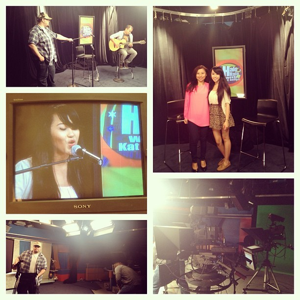 Had a great time at my interview/performance for the show, 'Halo Halo w/ Kat' in Los Angeles!